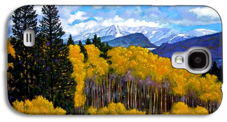 Fall Galaxy S4 Case featuring the painting Natures Patterns - Rocky Mountains by John Lautermilch