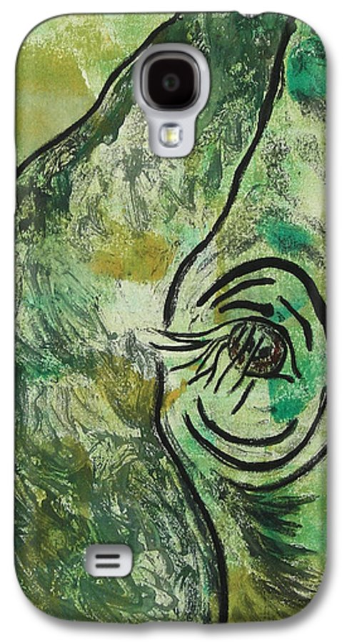 Monotype Galaxy S4 Case featuring the mixed media Never Forgotten by Cori Solomon