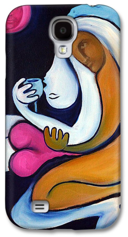 Abstract Galaxy S4 Case featuring the painting Never Tear Us Apart by Valerie Vescovi