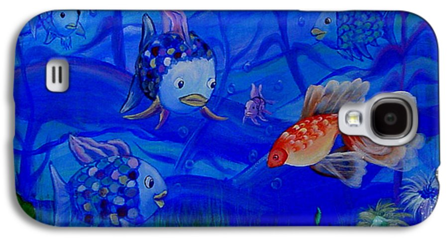 Fish Galaxy S4 Case featuring the painting New Kid In Town by Quwatha Valentine