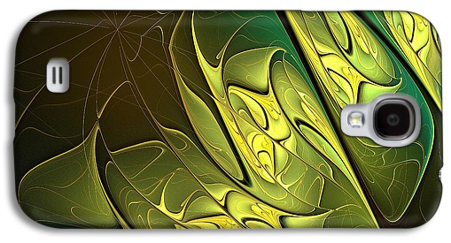 Digital Art Galaxy S4 Case featuring the digital art New Leaves by Amanda Moore