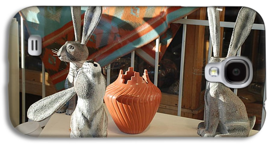 Rabbits Galaxy S4 Case featuring the photograph New Mexico Rabbits by Rob Hans