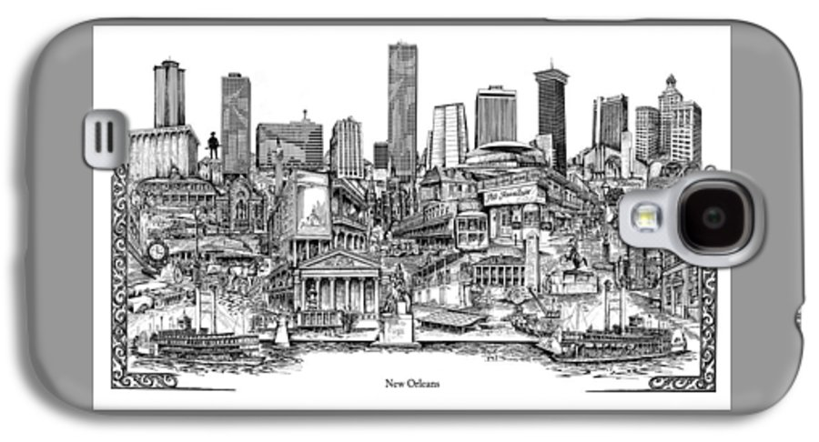 City Drawing Galaxy S4 Case featuring the drawing New Orleans by Dennis Bivens