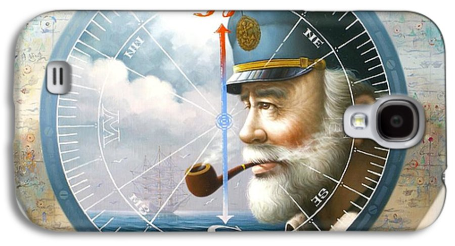 Sea Captain Galaxy S4 Case featuring the painting News Map Captain Or Sea Captain by Yoo Choong Yeul
