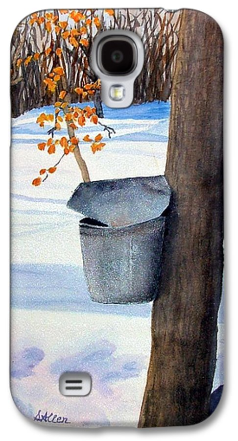 Sap Bucket. Maple Sugaring Galaxy S4 Case featuring the painting Nh Goldmine by Sharon E Allen