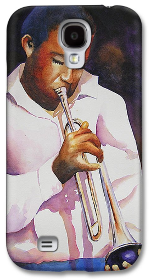 Trumpet Galaxy S4 Case featuring the painting Night Music by Karen Stark