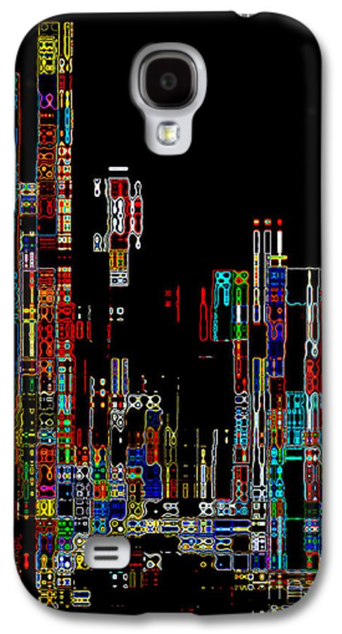 Abstract Galaxy S4 Case featuring the photograph Night On The Town - Digital Art by Carol Groenen