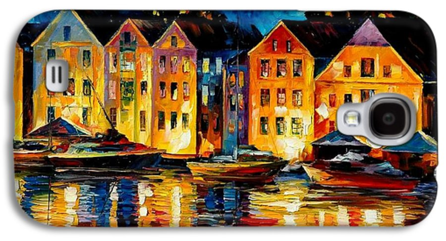 City Galaxy S4 Case featuring the painting Night Resting Original Oil Painting by Leonid Afremov