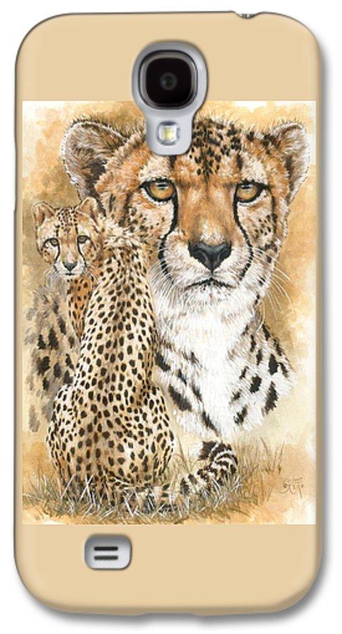 Cheetah Galaxy S4 Case featuring the mixed media Nimble by Barbara Keith