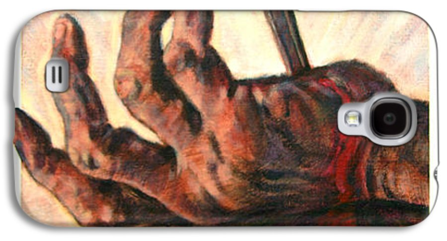 Christ Galaxy S4 Case featuring the painting No Greater Love by John Lautermilch