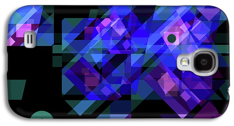 Abstract Galaxy S4 Case featuring the drawing No Illusions by Lynda Lehmann
