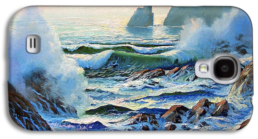 Seascape Galaxy S4 Case featuring the painting North Coast Surf by Frank Wilson