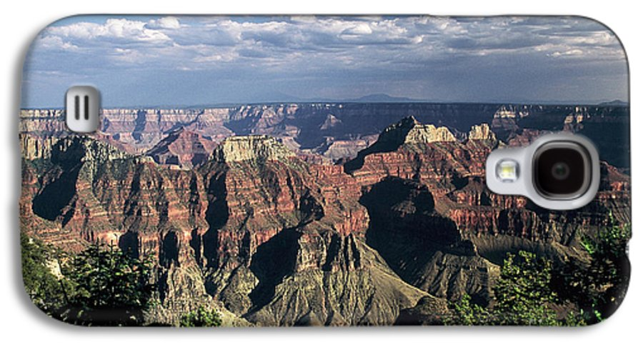 Grand Canyon; National Parks Galaxy S4 Case featuring the photograph North Rim by Kathy McClure