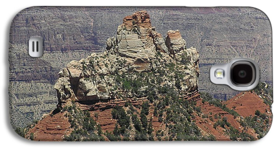 Rock Galaxy S4 Case featuring the photograph North Rim Rock by Louise Magno