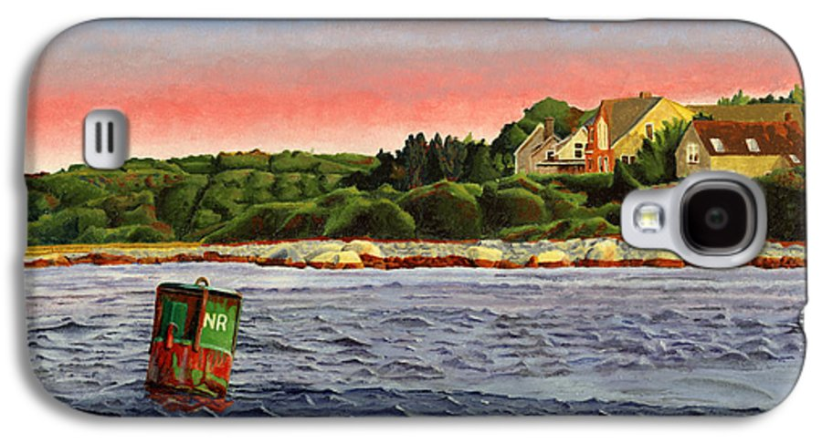 River Galaxy S4 Case featuring the painting North River At Sunset by Dominic White