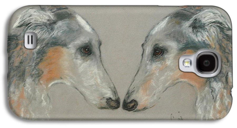 Dog Galaxy S4 Case featuring the drawing Nose To Nose by Cori Solomon