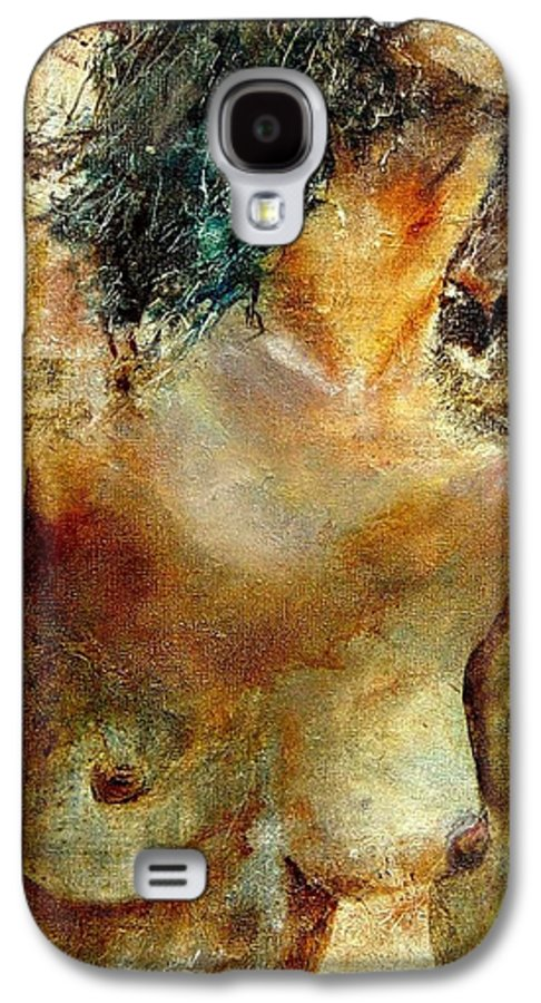 Girl Nude Galaxy S4 Case featuring the painting Nude 34 by Pol Ledent