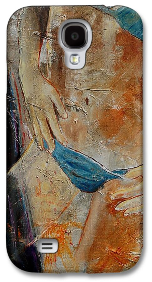Girl Nude Galaxy S4 Case featuring the painting Nude 450608 by Pol Ledent