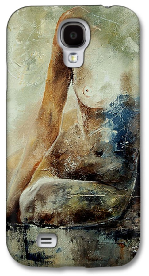 Nude Galaxy S4 Case featuring the painting Nude 560408 by Pol Ledent