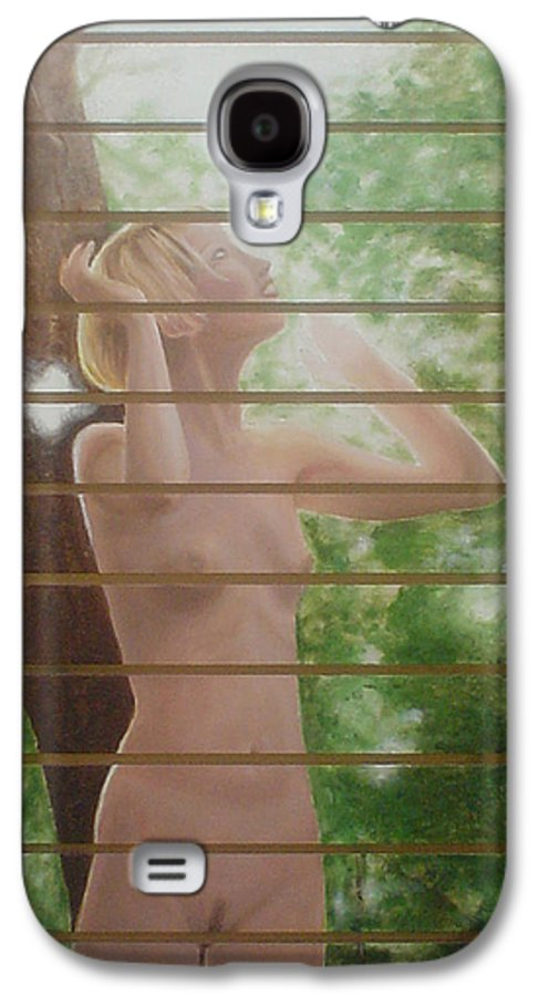 Realistic Galaxy S4 Case featuring the painting Nude Forest by Angel Ortiz