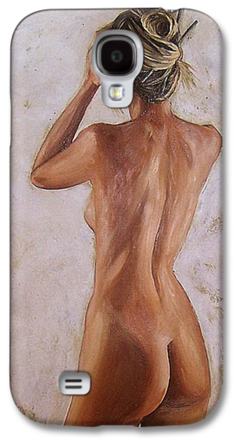 Nude Galaxy S4 Case featuring the painting Nude by Natalia Tejera