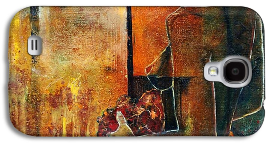 Woman Girl Fashion Nude Galaxy S4 Case featuring the painting Nude by Pol Ledent