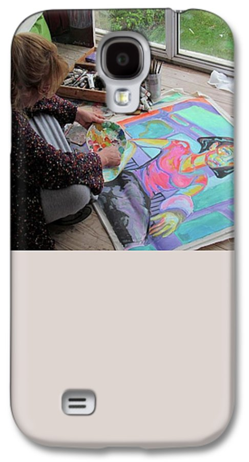 Landscape Galaxy S4 Case featuring the painting Nude by Raquel Sarangello