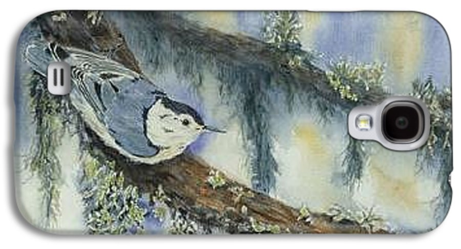 Nuthatch Galaxy S4 Case featuring the painting Nuthatch by Dolores Fegan
