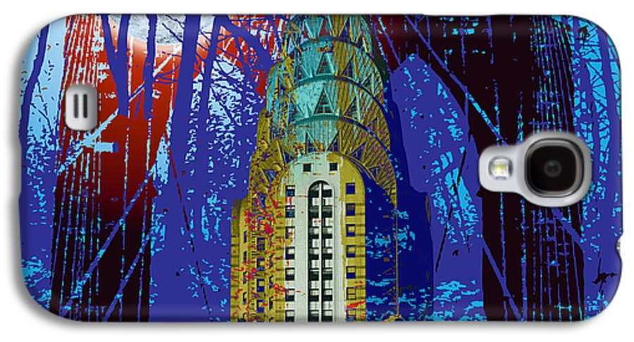 Modern Art Galaxy S4 Case featuring the digital art Nyc Icons by Gary Grayson