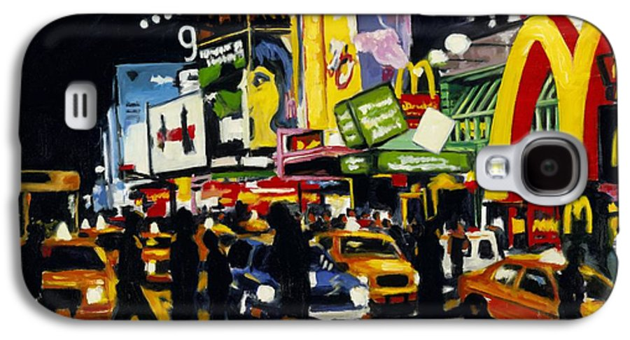 New York Galaxy S4 Case featuring the painting Nyc II The Temple Of M by Robert Reeves