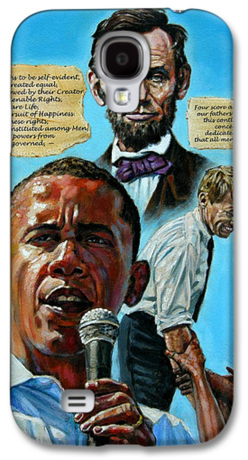 Obama Galaxy S4 Case featuring the painting Obamas Heritage by John Lautermilch