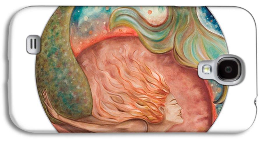 Ocean Spirit Inspiration Art Soul Spiritual Galaxy S4 Case featuring the painting Ocean Spirit by Moira Gil