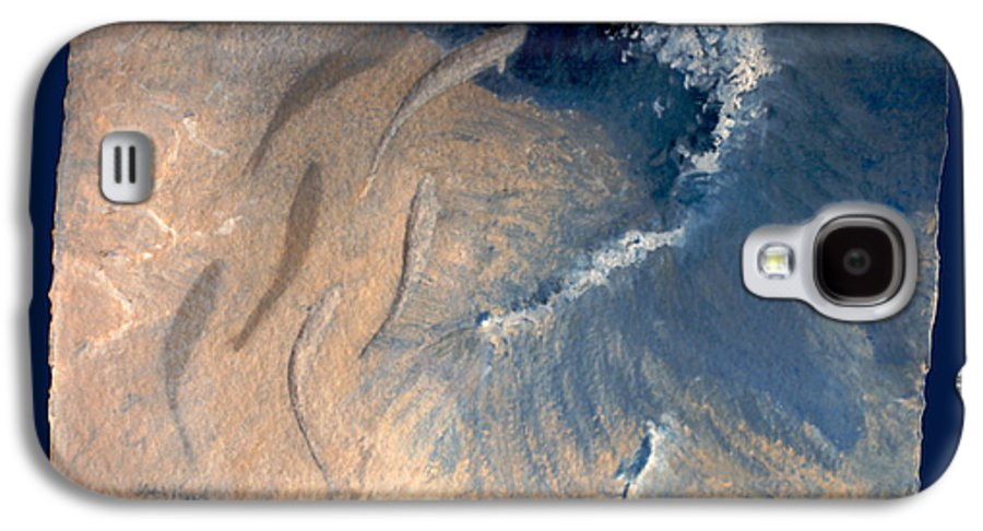 Seascape Galaxy S4 Case featuring the painting Ocean by Steve Karol