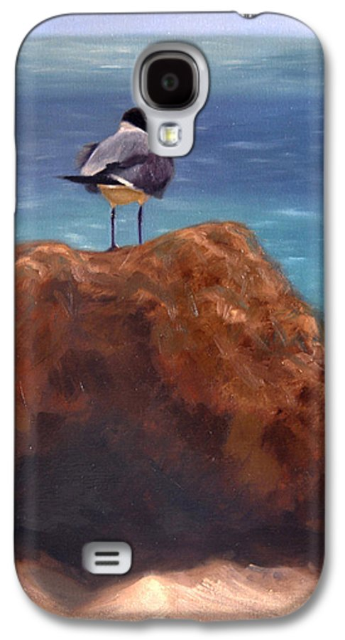 Oil Galaxy S4 Case featuring the painting Ocean View by Greg Neal