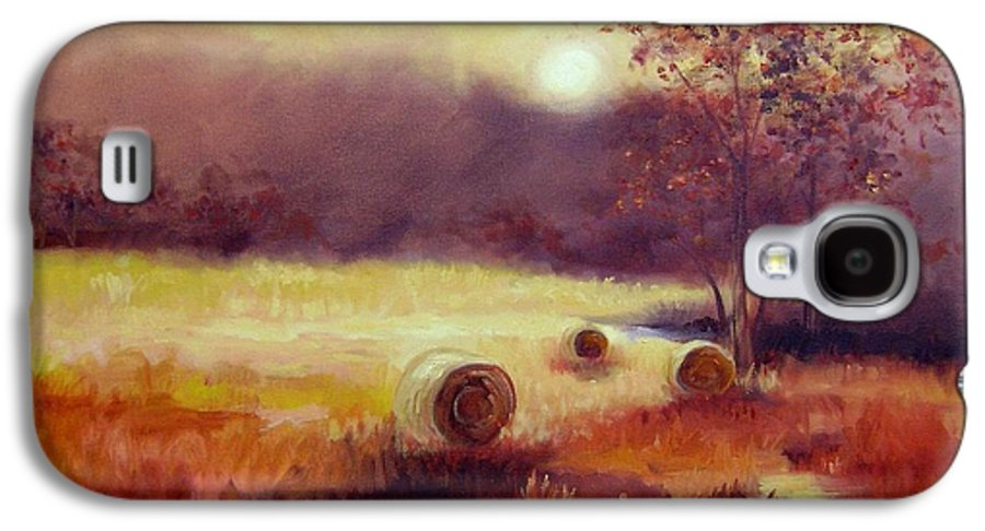 Fall Landscapes Galaxy S4 Case featuring the painting October Pasture by Ginger Concepcion