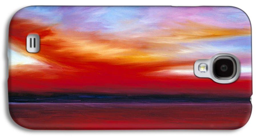 Clouds Galaxy S4 Case featuring the painting October Sky by James Christopher Hill