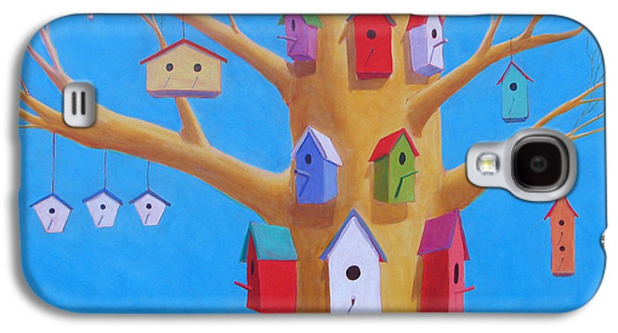 Bird House Galaxy S4 Case featuring the painting Off Season 4 by Scott Gordon