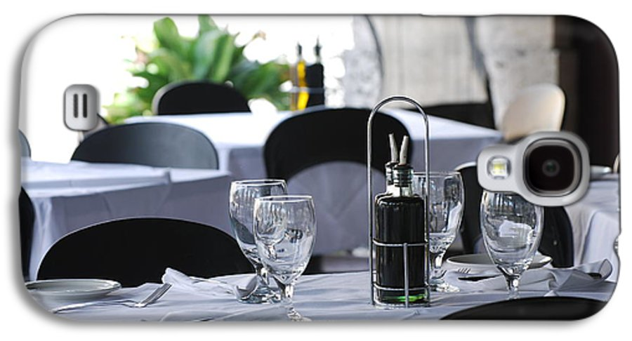 Tables Galaxy S4 Case featuring the photograph Oils And Glass At Dinner by Rob Hans
