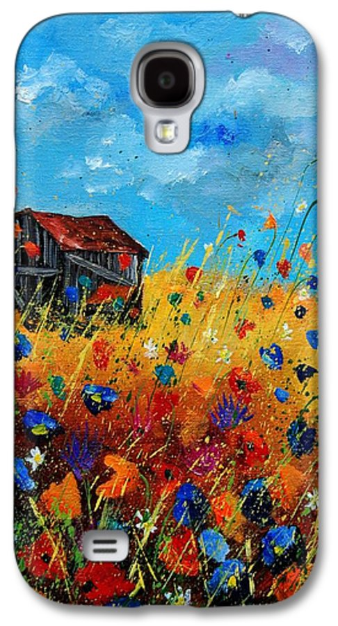 Poppies Galaxy S4 Case featuring the painting Old Barn by Pol Ledent