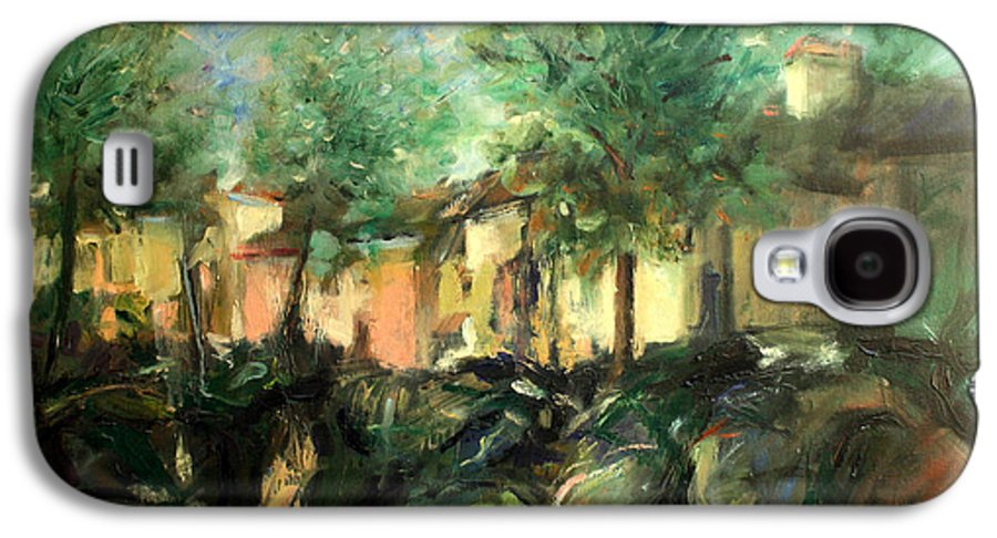 Old Houses Galaxy S4 Case featuring the painting Old Houses by Mario Zampedroni