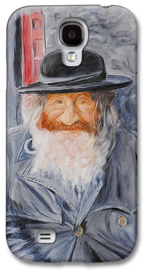 Jerusalem Galaxy S4 Case featuring the painting Old Man Of Jerusalem by Quwatha Valentine