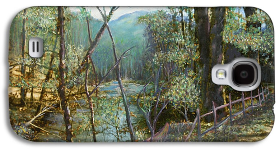 River; Trees; Landscape Galaxy S4 Case featuring the painting Old Man River by Ben Kiger