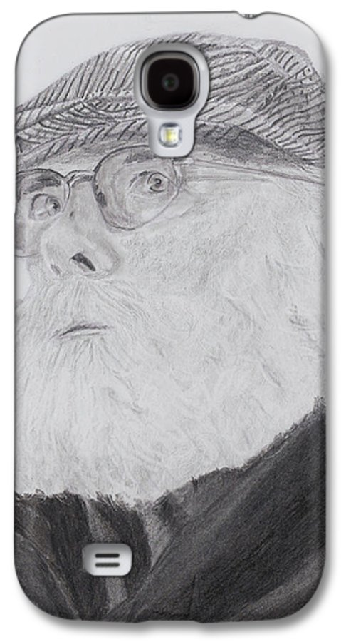 Portrait Galaxy S4 Case featuring the drawing Old Man With Beard by Quwatha Valentine