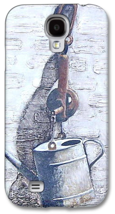 Old Metal Still Life Galaxy S4 Case featuring the painting Old Metal by Natalia Tejera