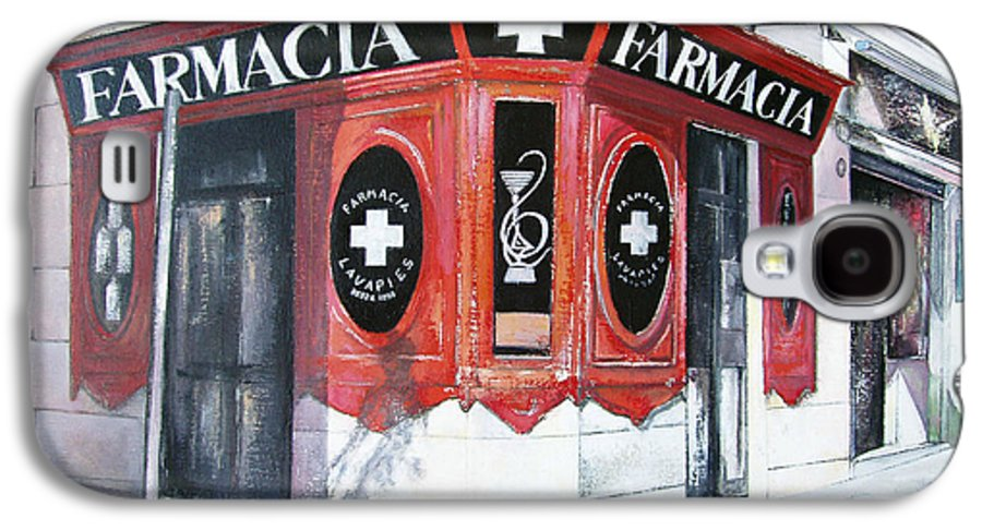 Pharmacy Galaxy S4 Case featuring the painting Old Pharmacy by Tomas Castano