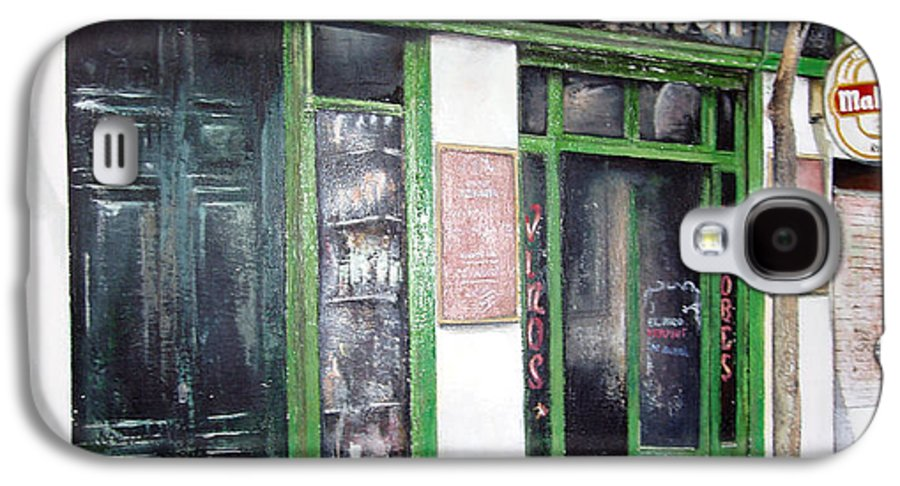 Bodegas Galaxy S4 Case featuring the painting Old Tavern-madrid by Tomas Castano