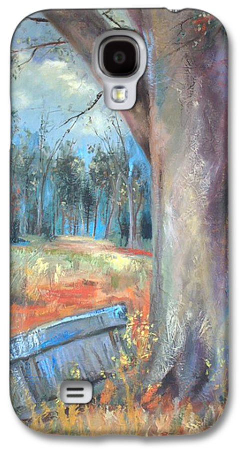 Country Scenes Galaxy S4 Case featuring the painting Old Times by Ginger Concepcion