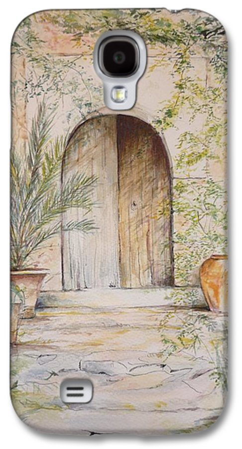 Door Galaxy S4 Case featuring the painting Old Wooden Door by Lizzy Forrester