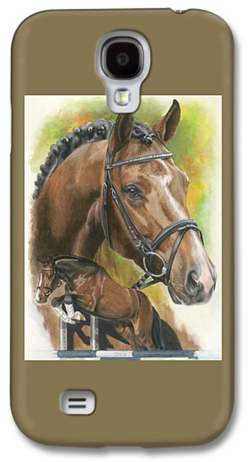 Hunter Jumper Galaxy S4 Case featuring the mixed media Oldenberg by Barbara Keith