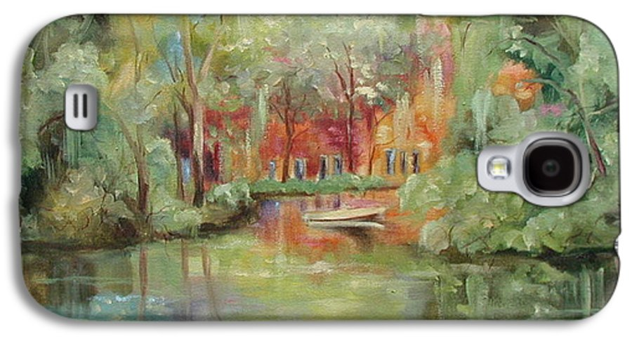 Bayou Galaxy S4 Case featuring the painting On A Bayou by Ginger Concepcion